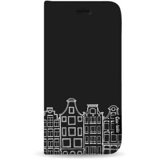 Casetastic Wallet Case Black Samsung Galaxy A7 (2018) - Amsterdam Canal Houses White