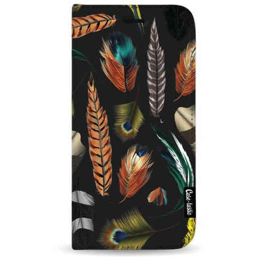 Casetastic Wallet Case Black Samsung Galaxy A7 (2018) - Feathers Multi