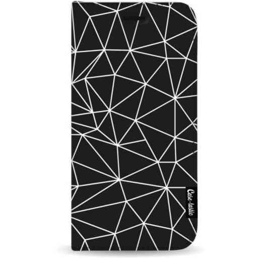 Casetastic Wallet Case Black Samsung Galaxy A7 (2018) - So Many Lines! White