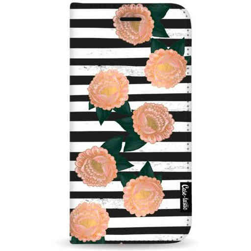 Casetastic Wallet Case Black Samsung Galaxy A7 (2018) - Striped Winter Flowers