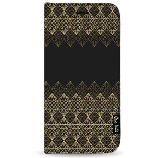 Casetastic Wallet Case Black Samsung Galaxy A7 (2018) - Golden Diamonds