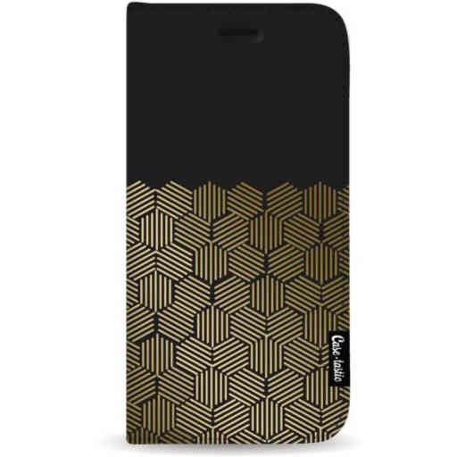Casetastic Wallet Case Black Samsung Galaxy A7 (2018) - Golden Hexagons