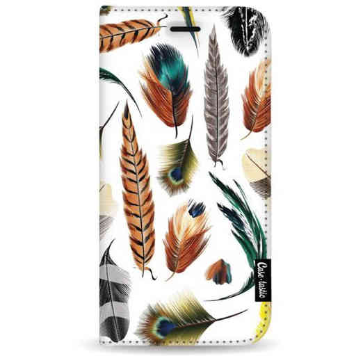 Casetastic Wallet Case White Samsung Galaxy A7 (2018) - Feathers Multi