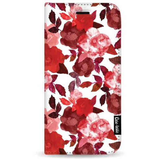 Casetastic Wallet Case White Samsung Galaxy A7 (2018) - Royal Flowers Red