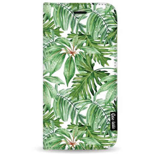 Casetastic Wallet Case White Samsung Galaxy A7 (2018) - Transparent Leaves