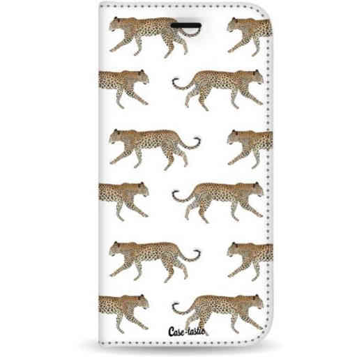 Casetastic Wallet Case White Samsung Galaxy A7 (2018) - Hunting Leopard