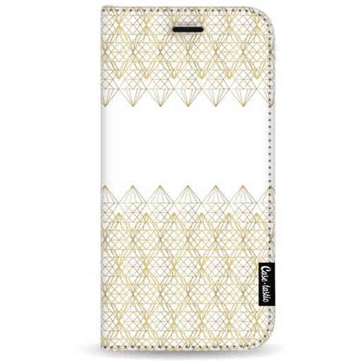 Casetastic Wallet Case White Samsung Galaxy A7 (2018) - Golden Diamonds