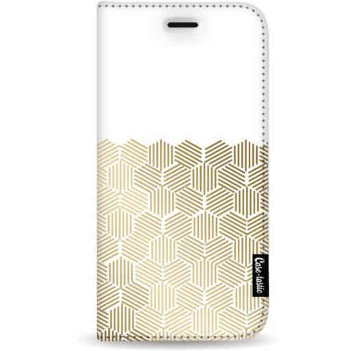 Casetastic Wallet Case White Samsung Galaxy A7 (2018) - Golden Hexagons