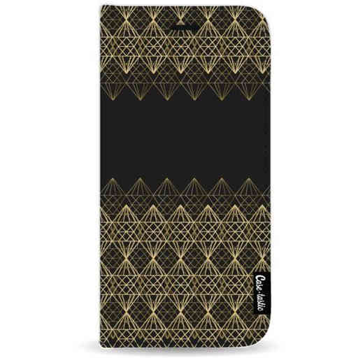 Casetastic Wallet Case Black Samsung Galaxy A9 (2018) - Golden Diamonds