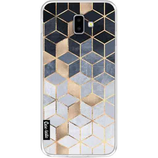 Casetastic Softcover Samsung Galaxy J6 Plus (2018) - Soft Blue Gradient Cubes