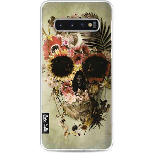 Casetastic Softcover Samsung Galaxy S10 - Garden Skull Light