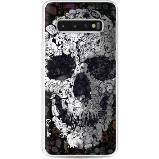Casetastic Softcover Samsung Galaxy S10 - Doodle Skull BW