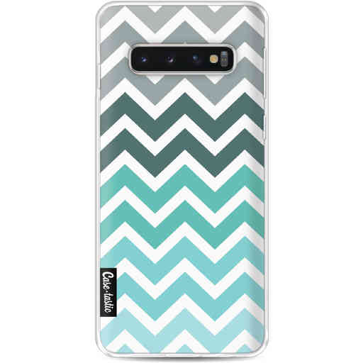 Casetastic Softcover Samsung Galaxy S10 - Tiffany Fade Chevron