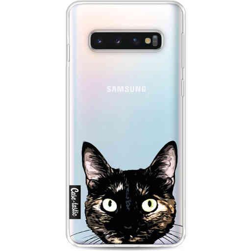 Casetastic Softcover Samsung Galaxy S10 - Peeking Kitty