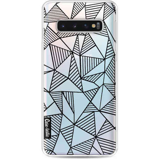 Casetastic Softcover Samsung Galaxy S10 - Abstraction Lines Black Transparent