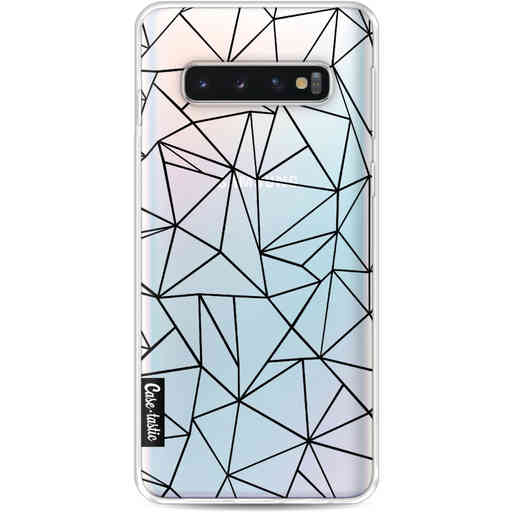 Casetastic Softcover Samsung Galaxy S10 - Abstraction Outline Black Transparent