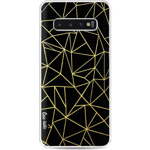 Casetastic Softcover Samsung Galaxy S10 - Abstraction Outline Gold