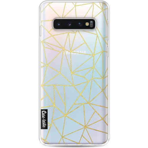 Casetastic Softcover Samsung Galaxy S10 - Abstraction Outline Gold Transparent
