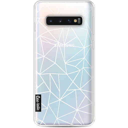 Casetastic Softcover Samsung Galaxy S10 - Abstraction Outline White Transparent