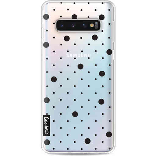 Casetastic Softcover Samsung Galaxy S10 - Pin Points Polka Black Transparent