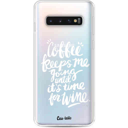 Casetastic Softcover Samsung Galaxy S10 - Coffee Wine White Transparent