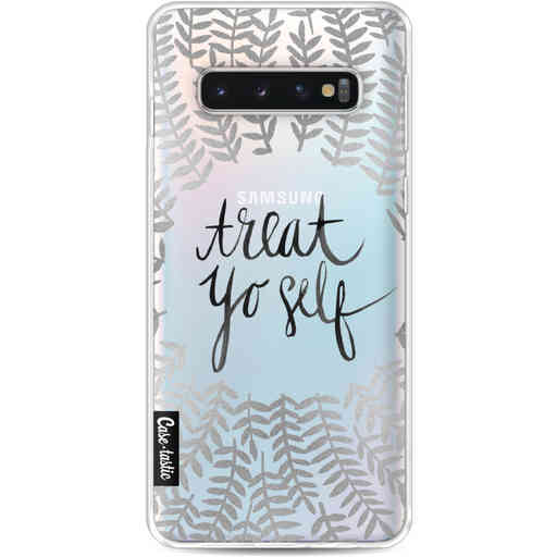 Casetastic Softcover Samsung Galaxy S10 - Treat Yoself Silver
