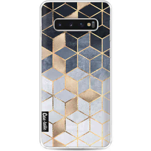 Casetastic Softcover Samsung Galaxy S10 - Soft Blue Gradient Cubes