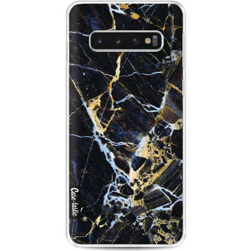 Casetastic Softcover Samsung Galaxy S10 - Black Gold Marble