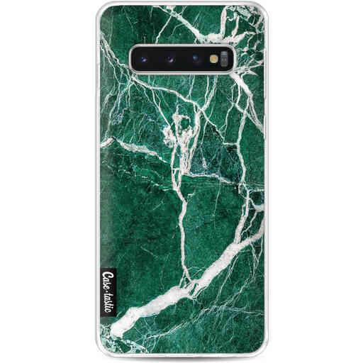 Casetastic Softcover Samsung Galaxy S10 - Dark Green Marble