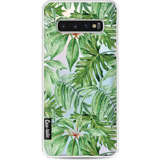 Casetastic Softcover Samsung Galaxy S10 - Transparent Leaves