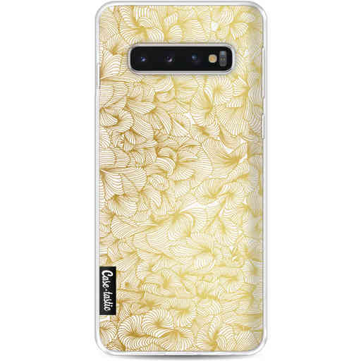 Casetastic Softcover Samsung Galaxy S10 - Abstract Pattern Gold