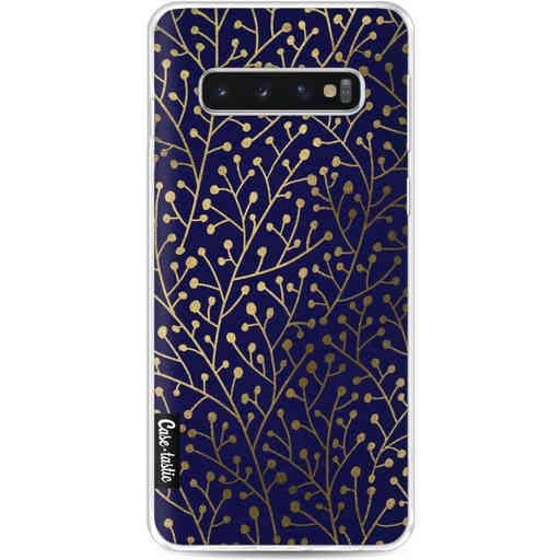 Casetastic Softcover Samsung Galaxy S10 - Berry Branches Navy Gold