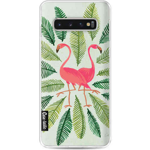 Casetastic Softcover Samsung Galaxy S10 - Flamingos Green