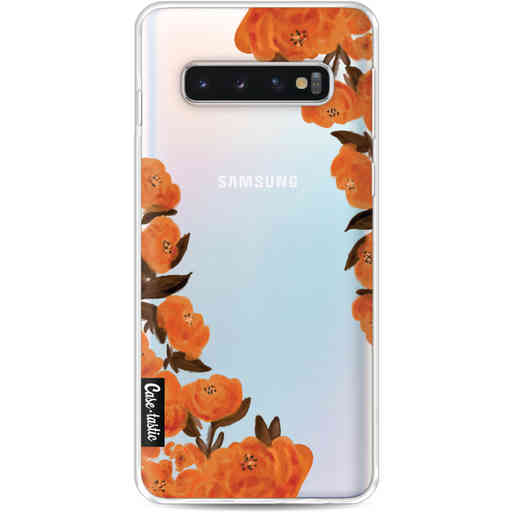 Casetastic Softcover Samsung Galaxy S10 - Orange Autumn Flowers