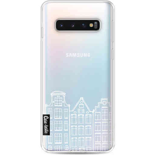 Casetastic Softcover Samsung Galaxy S10 - Amsterdam Canal Houses White