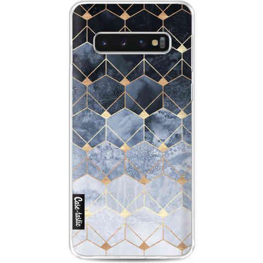 Casetastic Softcover Samsung Galaxy S10 - Blue Hexagon Diamonds
