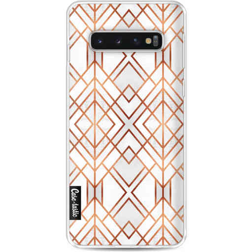 Casetastic Softcover Samsung Galaxy S10 - Copper Geo