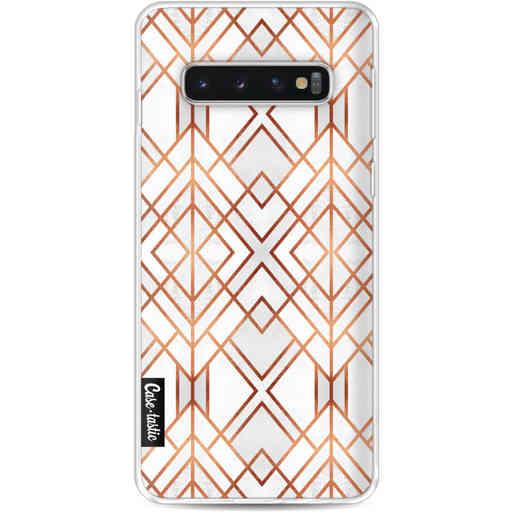 Casetastic Softcover Samsung Galaxy S10 - Copper Geo
