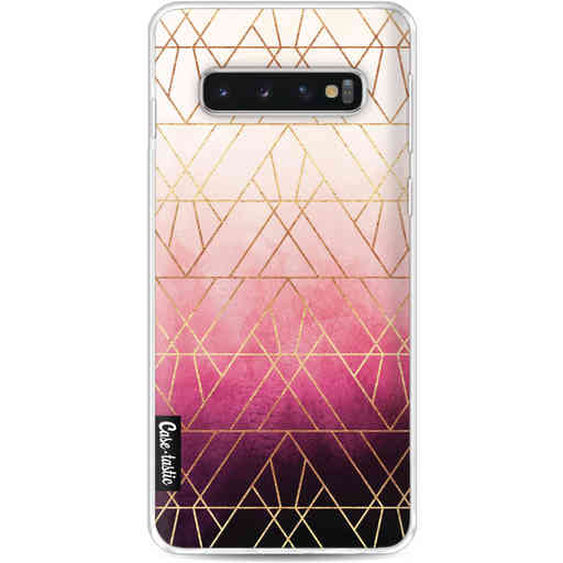 Casetastic Softcover Samsung Galaxy S10 - Pink Ombre Triangles