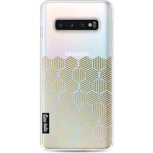 Casetastic Softcover Samsung Galaxy S10 - Golden Hexagons