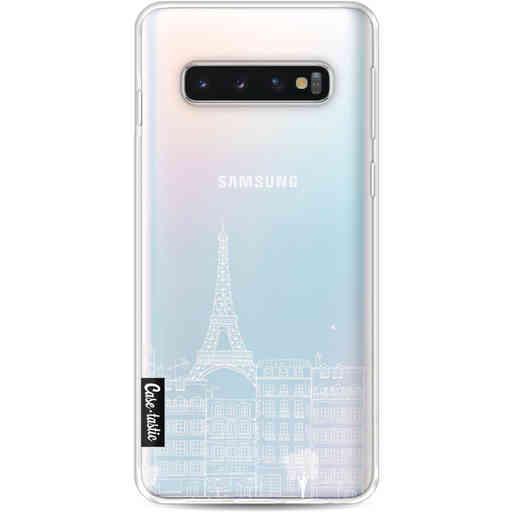 Casetastic Softcover Samsung Galaxy S10 - Paris City houses White