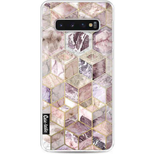 Casetastic Softcover Samsung Galaxy S10 - Blush Quartz Honeycomb