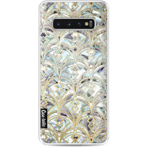 Casetastic Softcover Samsung Galaxy S10 - Mint Art Deco Marbling