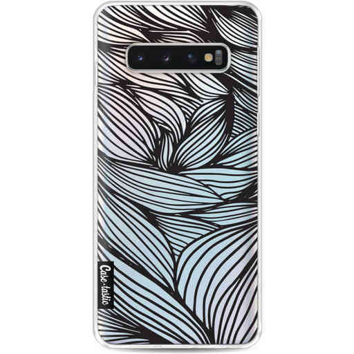 Casetastic Softcover Samsung Galaxy S10 - Wavy Outlines Black