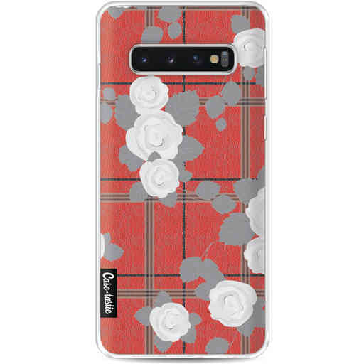 Casetastic Softcover Samsung Galaxy S10 - Flower Tartan Red