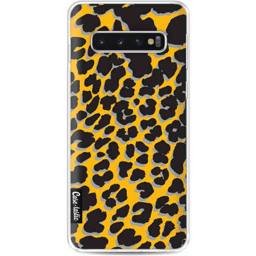 Casetastic Softcover Samsung Galaxy S10 - Leopard Print Yellow