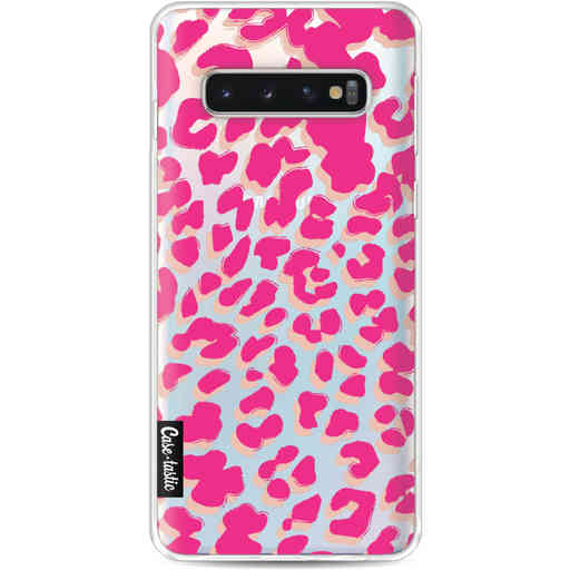 Casetastic Softcover Samsung Galaxy S10 - Leopard Print Pink
