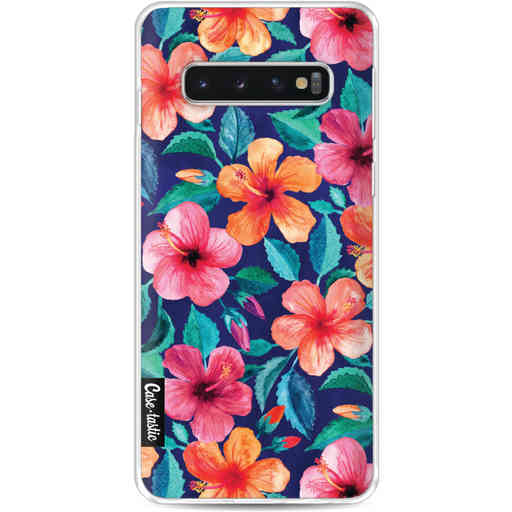 Casetastic Softcover Samsung Galaxy S10 - Colorful Hibiscus