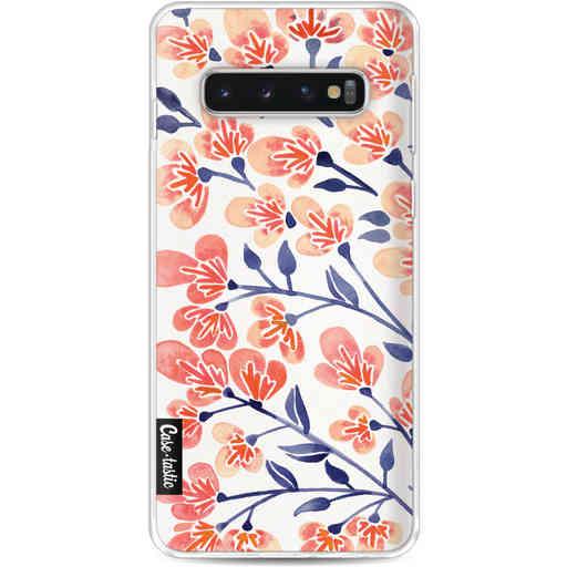 Casetastic Softcover Samsung Galaxy S10 - Cherry Blossoms Peach
