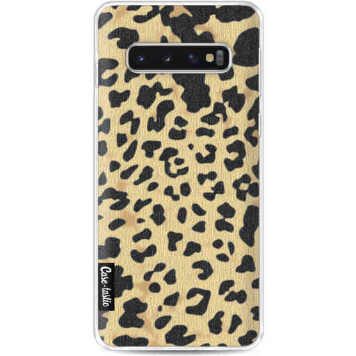 Casetastic Softcover Samsung Galaxy S10 - Leopard Print Sand